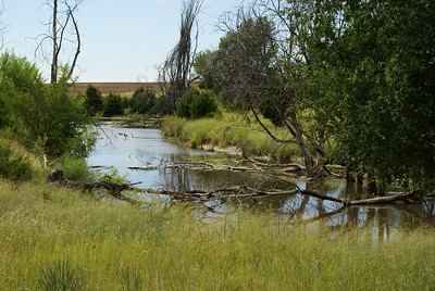 Small pond along Gyp Hills Scenic Drive - Barber County, Kansas