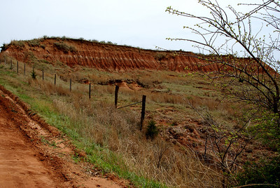 Exposed hillside - southern Barber County
