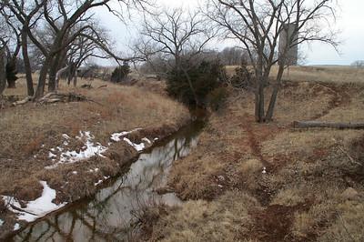 Dog Creek south of Lake City - Barber County