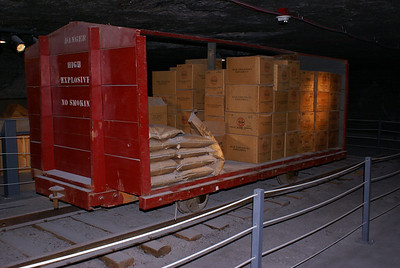 Explosives rail car display