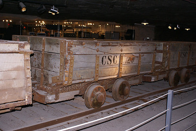 Former Carey Salt rail cars used in the mine