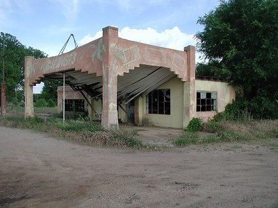 Former business at Midway corner - now demolished