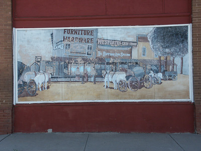 Mural on building along Main Street