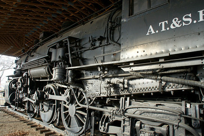 Historic 1880 Santa Fe steam locomotive in Military Park