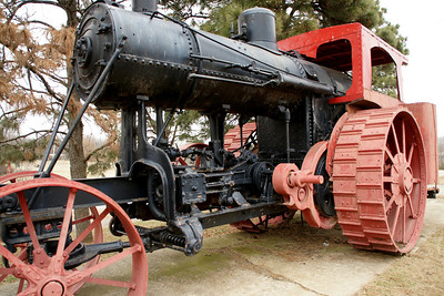 Avery Steam Tractor in park
