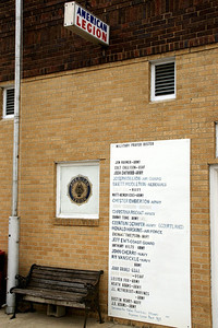 American Legion building and Prayer Roster