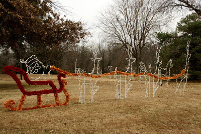 Christmas decorations at Cave Park