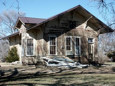 Santa Fe depot in Sawyer in poor shape