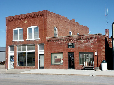 Downtown buildings in Sawyer