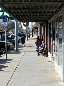 Sidewalk in downtown Valley Center