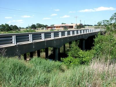 Bridge over North Fork Ninnescah River just below Cheney Reservoir dam