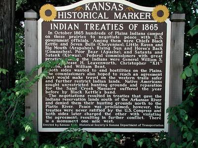 Indian treaties historic marker in Park City