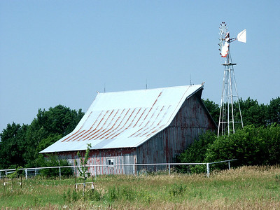 Barn and windmill - eastern Sedgwick County