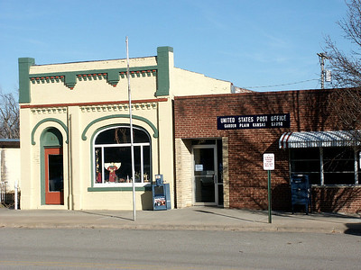 Post office and downtown building in Garden Plain