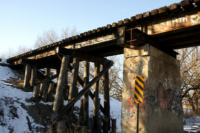 Railroad trestle over 143rd St East