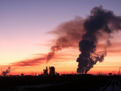 Gordon Evans energy plant near Colwich at dusk