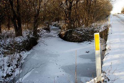 Frozen creek - northeast Sedgwick County