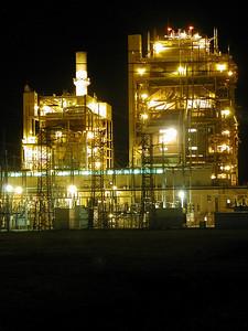 Gordon Evans energy plant at night. Near Colwich
