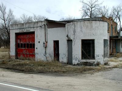 Abandoned buildings at Wego Waco - southern Sedgwick County