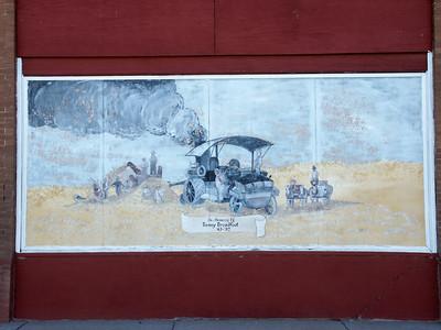 Farm scene mural in Macksville