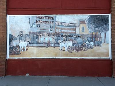 Town scene mural in Macksville