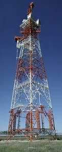 Tall communications tower