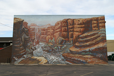 Mural on downtown building