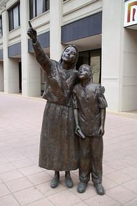 Sculptures along Douglas Ave