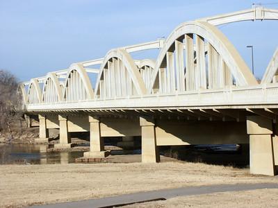 Historic John Mack bridge over Arkansas River - south Broadway