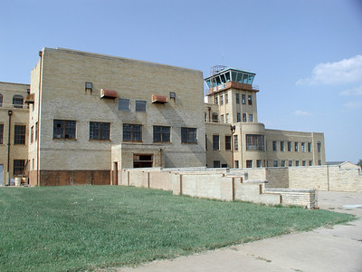 Former Municipal Airport terminal building - now Kansas Aviation Museum
