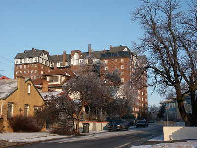 Hillcrest building at Douglas and Hillside