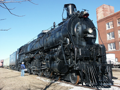 ATSF steam locomotive at Great Plains Transportation Museum