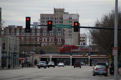 Approaching downtown Wichita along Douglas Ave