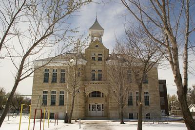 Historic limestone McCormick Ave school, circa 1890
