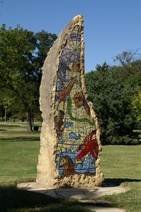 Art sculpture at Central Riverside Park