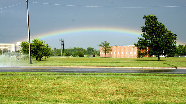 Rainbow seen along Woodlawn - east Wichita