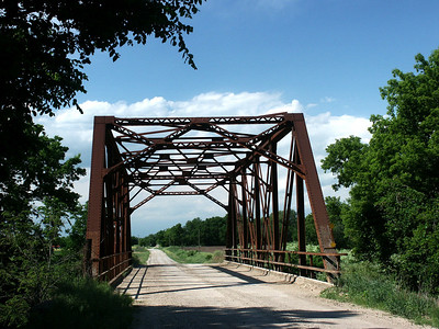 Iron Truss bridge over South Cottonwood River near Bazaar