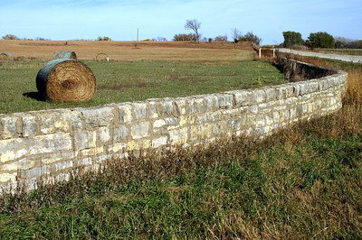 Stone fence - northwest Chase County