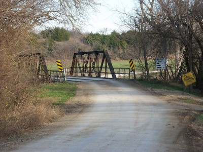 Caney River bridge on Ranch Road - Northwest Chautauqua County