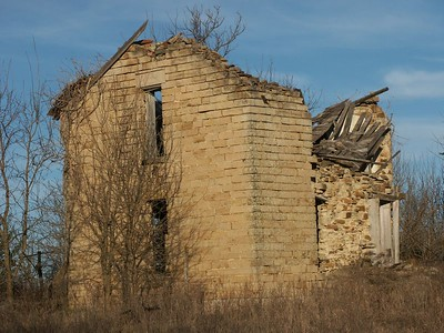 Collapsing stone house - northwest Chautauqua County
