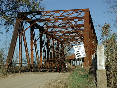 Caney River bridge west of Hewins