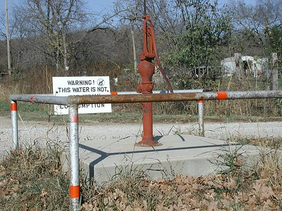 Community water pump in Oak Valley
