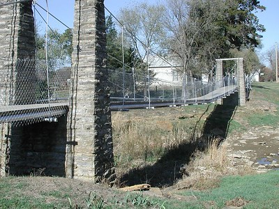 Historic footbridge in Moline