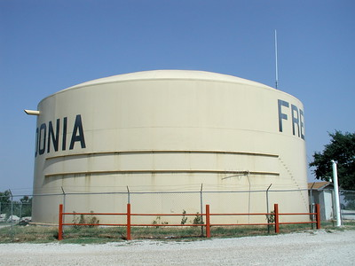 Water storage tank on top of South Mound