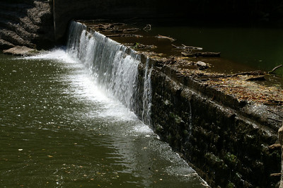 Side view of old mill dam south of town