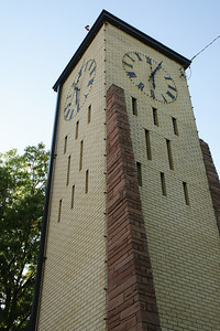 Clock tower on courthouse square. Houses the original clock works from the 1886 courthouse torn down in the 1960's