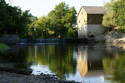 Old linseed oil mill and dam on Fall River south of Fredonia