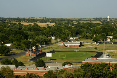 View of Fredonia from the top of South Mound