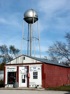 Bar and grill with water tower in Allen