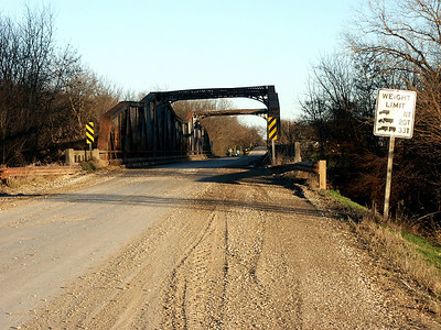 Neosho River iron truss bridge just west of Neosho Rapids
